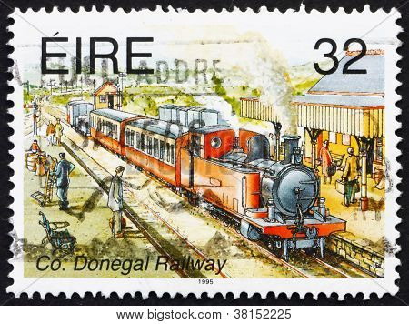 Postage stamp Ireland 1995 Co. Donegal Railway
