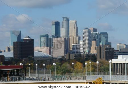 Minneapolis Cityscape Form U Of M