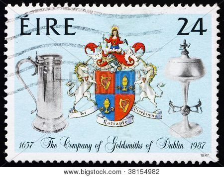 Postage stamp Ireland 1988 Ewer and Chalice, Company Crest