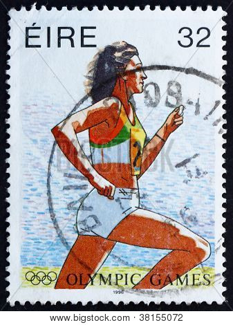 Postage stamp Ireland 1996 Running, 1996 Paralympic Games, Atlan
