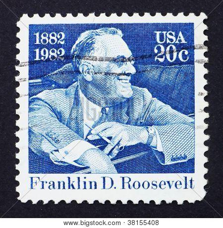Postage stamp USA 1982 Franklin Delano Roosevelt