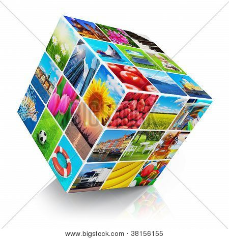 Cube with photo collection