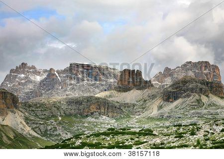 Beautiful Panorama Of The Dolomites - Italy
