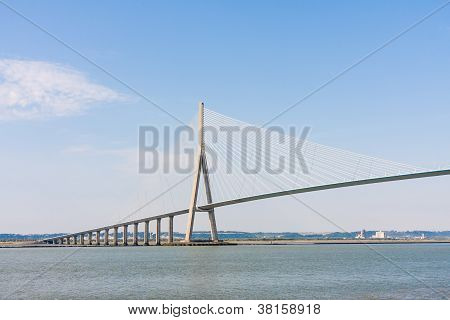 Pont De Normandy Over River Seine, France