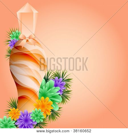 Perfume Bottle And Flowers