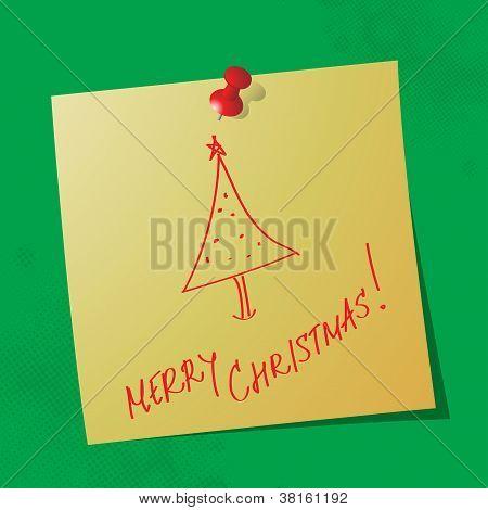 Merry Christmas Handwritten Message