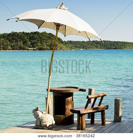 Sunshade At Kohkood Thailand