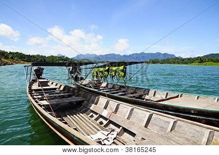 Two Boats At Ratchaprapa Dam