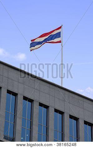 Thai Flag On The Building