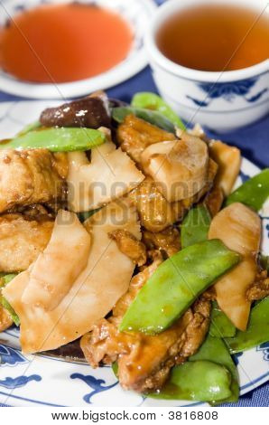 Tofu Bean Curd At Chinese Restaurant