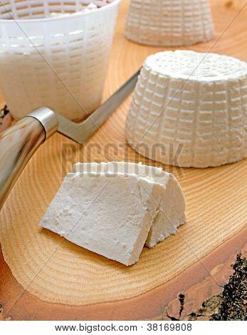 Sliced White Ricotta Cheese
