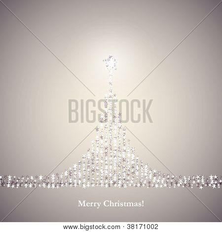 light gray christmas card