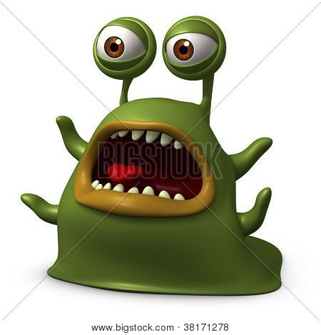 Green Slug Monster