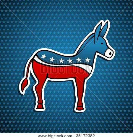 Usa Elections Democratic Party Donkey Emblem