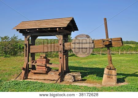 historic Wine Press,Burgenland,Austria