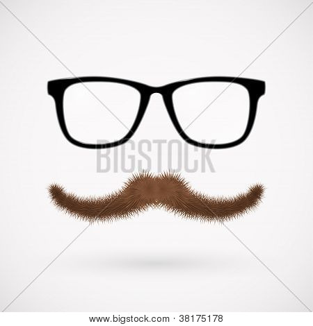 Hipster glasses and mustache