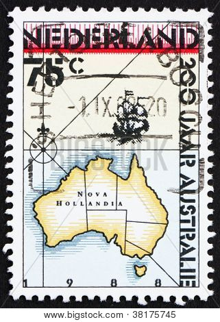Postage stamp Netherlands 1988 Discovery of Australia