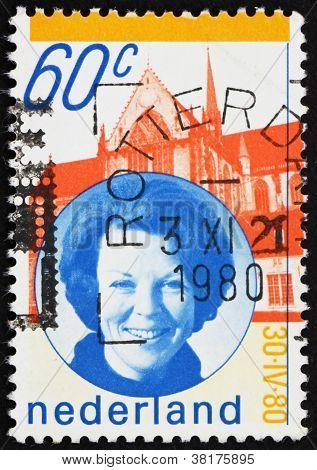 Postage stamp Netherlands 1990 Queen Beatrix