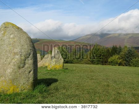 Castlerigg Stone Circle With Fells To The Background