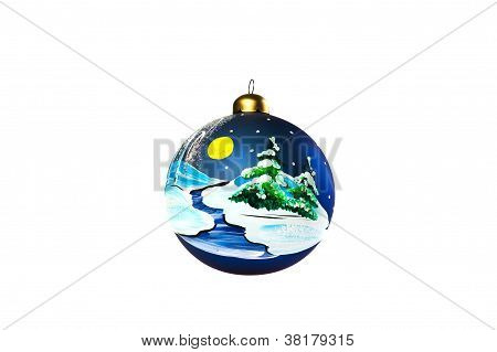 Handpainted glass ball Christmas tree decoration