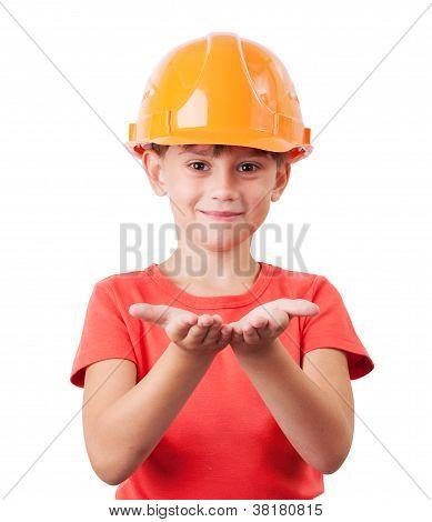 Baby In Protective Helmet