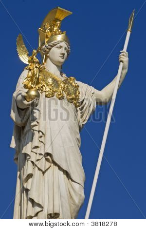 Pallas Athena, Stone Figure, Vienna