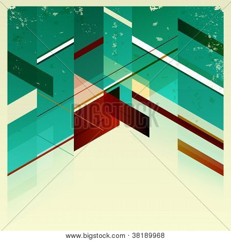 Abstract Retro Geometric Background.
