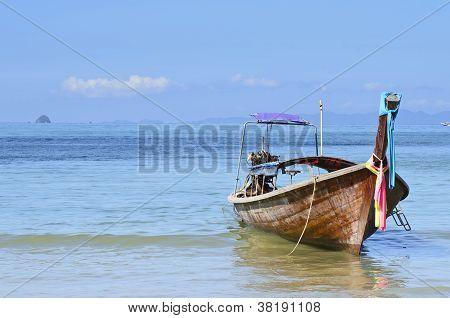 Good Morning Ao Nang And Long Tail Boat.