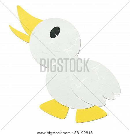 Rice Paper Cut Cute Cartoon Litte Duck