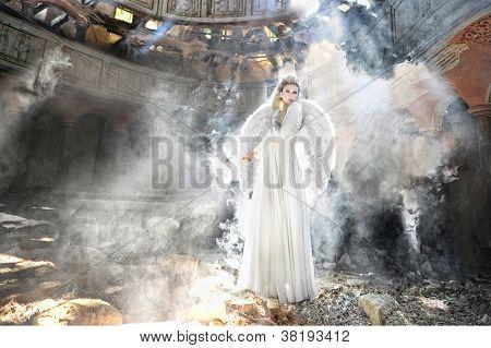 Beautiful Angel Woman In Theatre