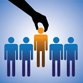 stock photo of recruitment  - Concept illustration of hiring the best candidate - JPG