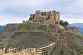 image of parador  - Cardona castle is a famous medieval castle in Catalonia - JPG