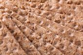 stock photo of wasa bread  - Close up of a crispbread with sesame seeds as a food background - JPG