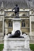 Statue of Oliver Cromwell at London, England