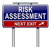 image of workplace safety  - Illustration depicting a roadsign with a risk assessment concept - JPG