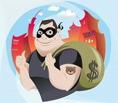 foto of plunder  - The vector illustration of the Robber  - JPG