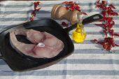 image of swordfish  - grilled swordfish - JPG