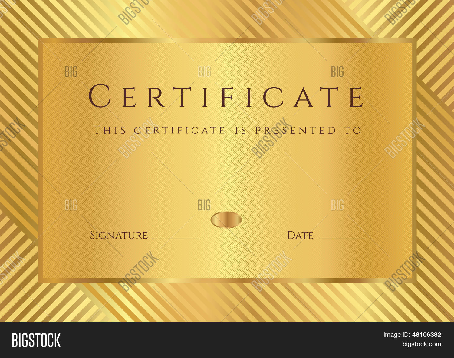 Gold Certificate Diploma Vector Amp Photo Bigstock