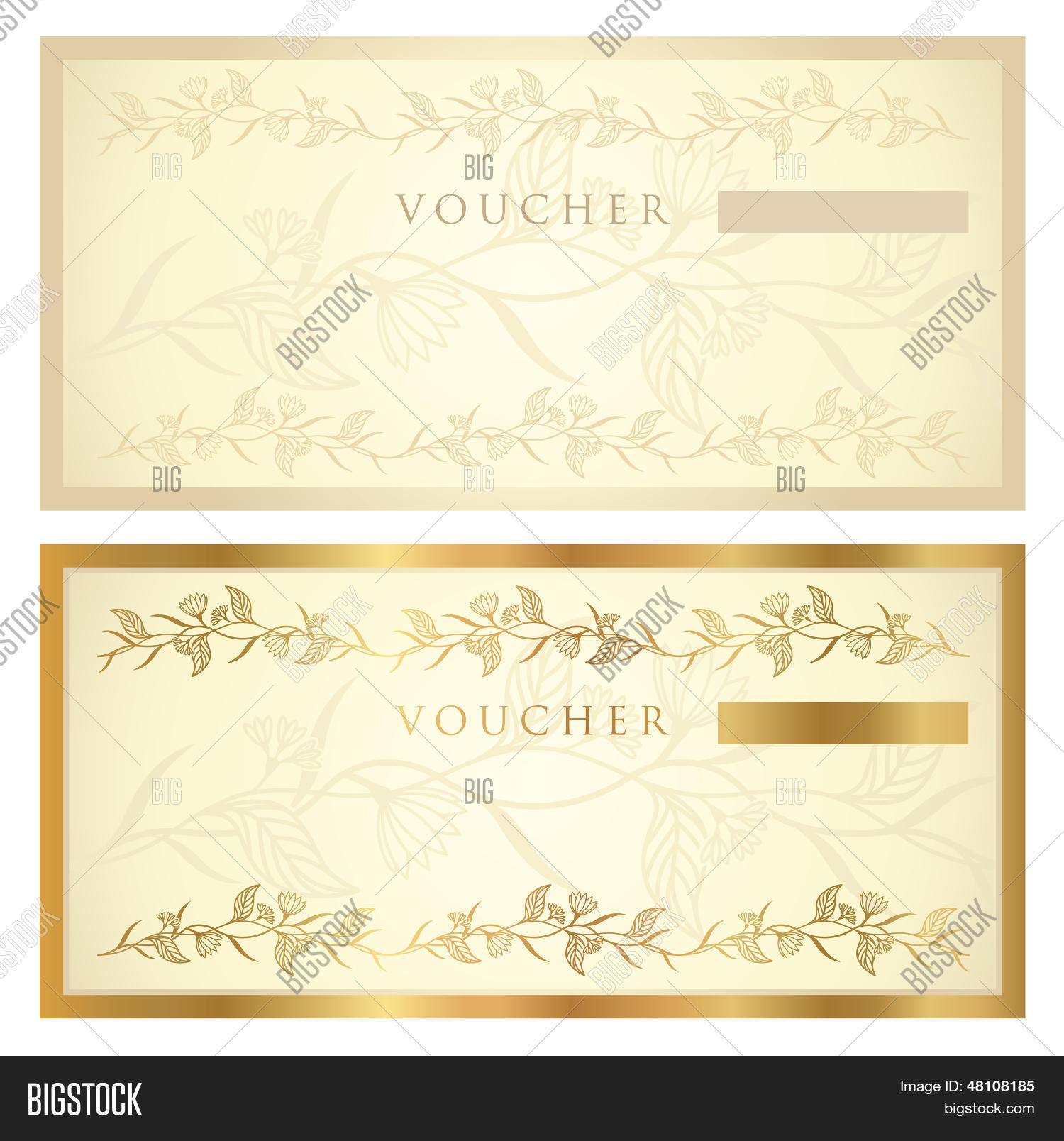 cheque voucher template - gift certificate voucher coupon template with banknote