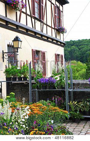 Germany. Tubingen. Bebenhausen Abbey In Flowers