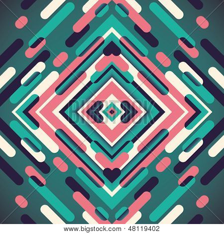 Modish illustration with colorful abstraction. Vector illustration.