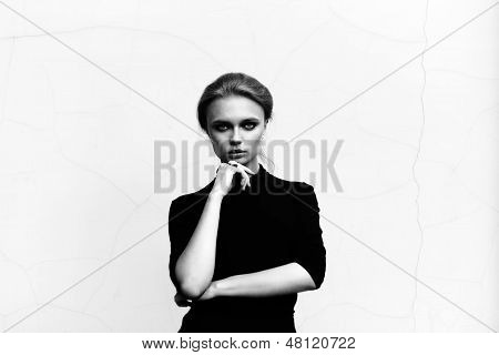 Schöne Mädchen Portrait im freien