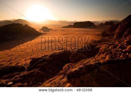 Evening At Wadi Rum