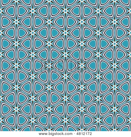 Blue Retro Star Pattern