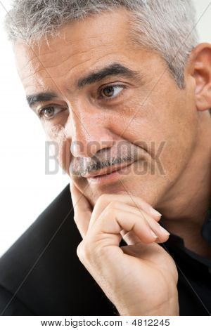 Portrait Of Mature Man Thinking
