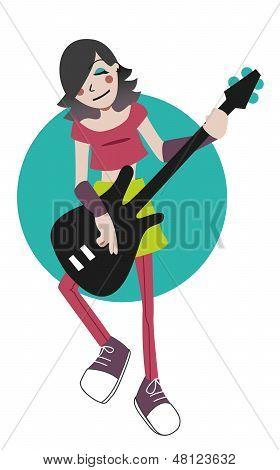 Spielt die Bassgitarre