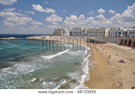 beach in Gallipoli, Italy