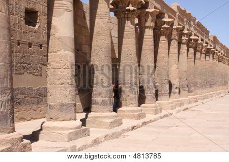 Columns At Philae Temple, Aswan Egypt