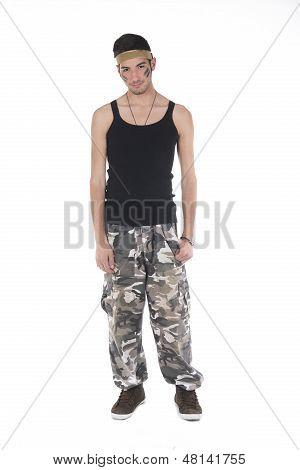 Model Dressed As A Mercenary