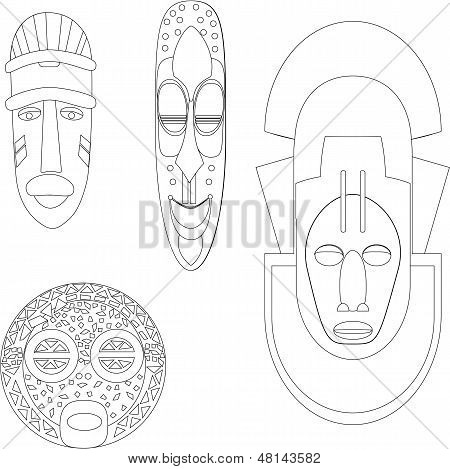 Máscaras africanas culturais